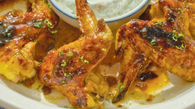 baked apricot wings