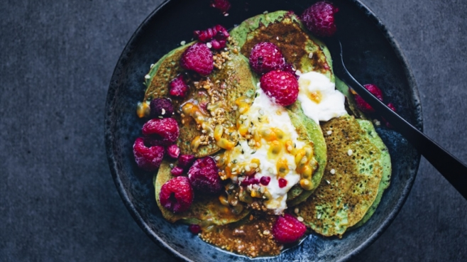 banana and spinach pancakes