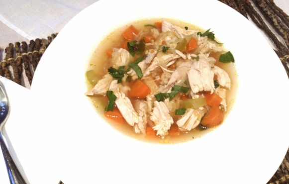 chicken ad rice soup